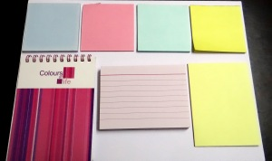 Post-its, notepad and note-cards