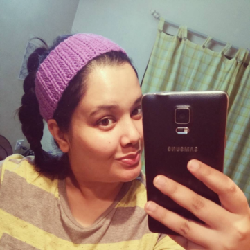 Completed hairband