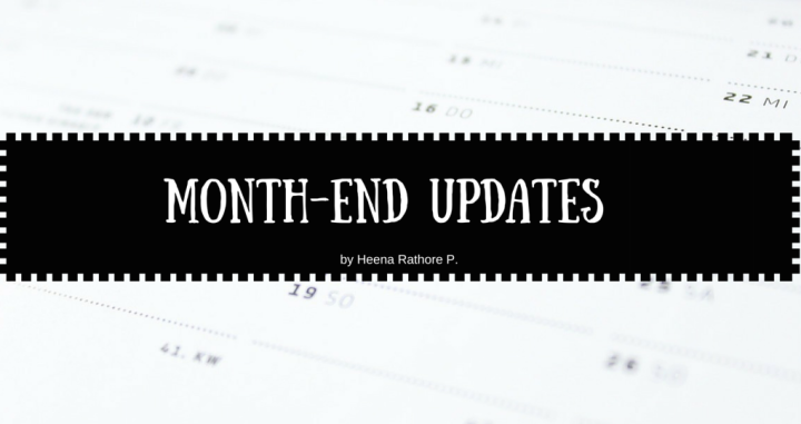 Month End Updates: May'16
