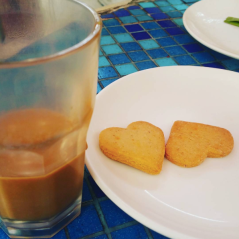 Masala Chai with spiced biscuits