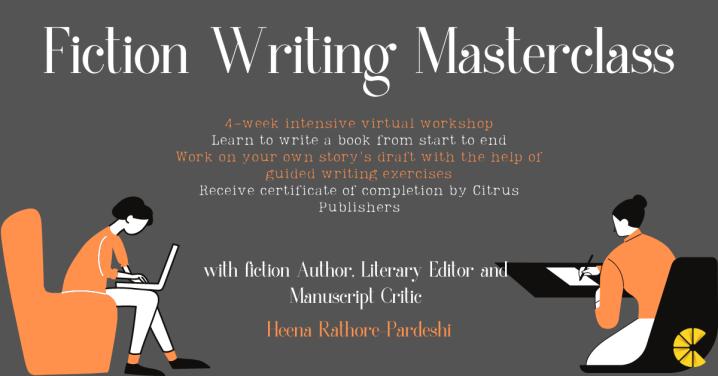 Fiction Writing Masterclass – 4-Week IntensiveWorkshop